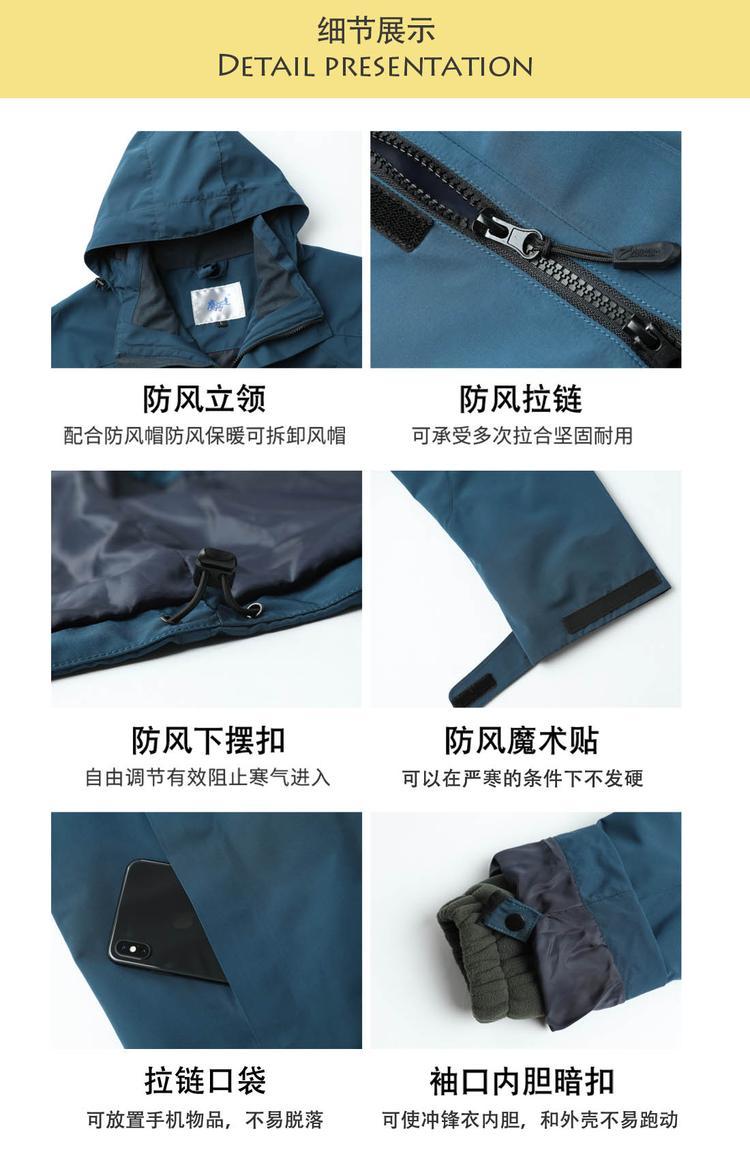 冲锋衣细节